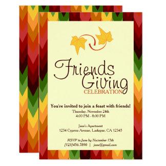 Fall Pattern NO.1 Customised Invitation Card