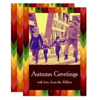 Fall Pattern NO.1: Customized Card 13 Cm X 18 Cm Invitation Card