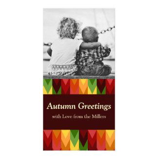 Fall Pattern NO.1: Customized Photocard Personalized Photo Card