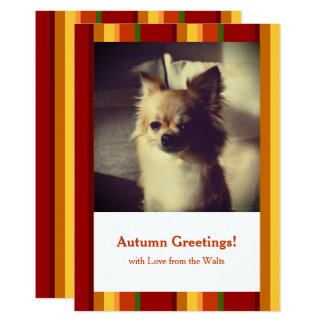 Fall Pattern NO.2: Customized Card 13 Cm X 18 Cm Invitation Card