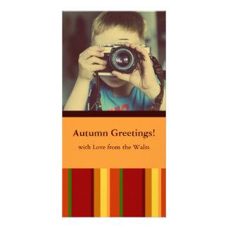 Fall Pattern NO.2: Customized Photocard Photo Card Template