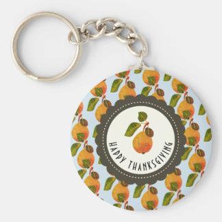 Fall Pears Fruit Thanksgiving Key Ring