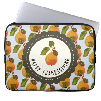 Fall Pears Fruit Thanksgiving Laptop Sleeve