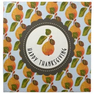 Fall Pears Fruit Thanksgiving Napkin