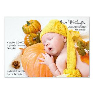 Fall Photo Birth Announcement