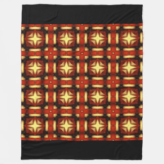 Fall Plaid Design Fleece Blanket