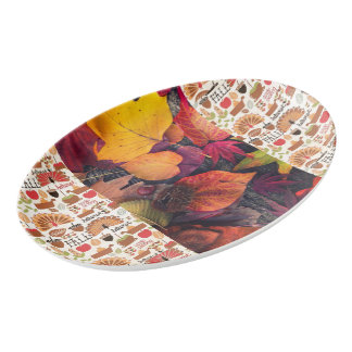 Fall Porcelain Serving Platter