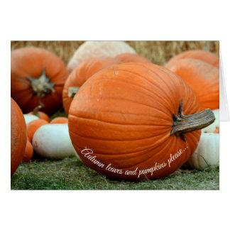 Fall Pumpkin Autumn Greeting Card
