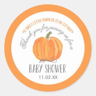 Fall Pumpkin | Baby Shower Favor Label Stickers