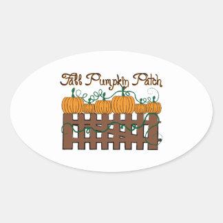 Fall Pumpkin Patch Oval Stickers