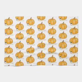 Fall Pumpkin Tea Towel