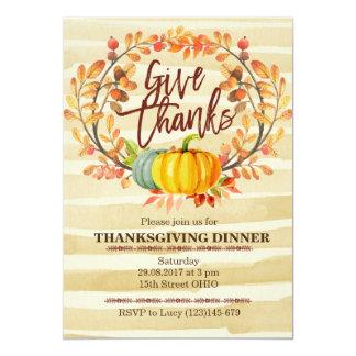 Fall Pumpkin Thanksgiving Dinner Invitation