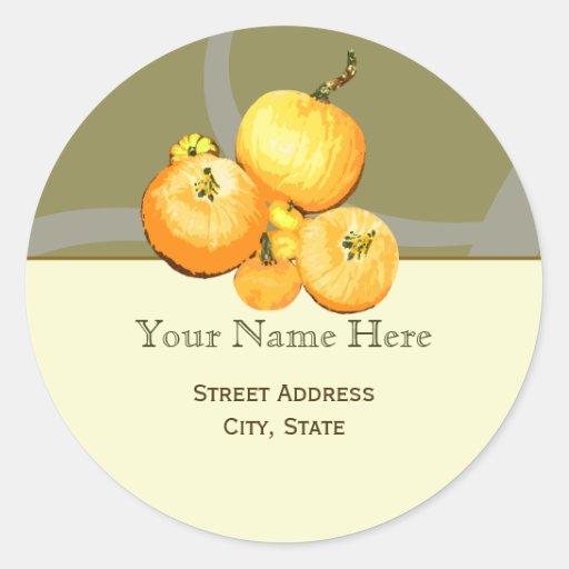 Fall Pumpkins Address Label Sticker