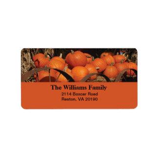 Fall Pumpkins Label