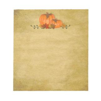 Fall Pumpkins Small Notepad