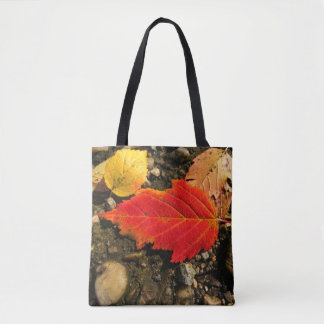 Fall Red Leaf Tote Bag