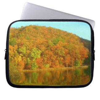 fall reflection laptop sleeve