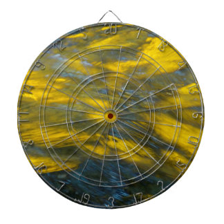 Fall Reflections in Gray and Yellow Dart Boards