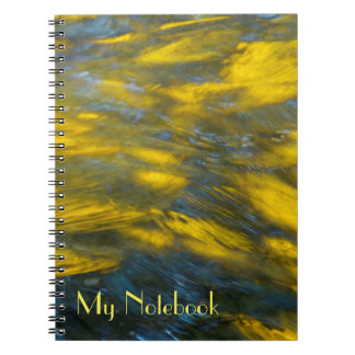 Fall Reflections in Gray and Yellow Spiral Notebook