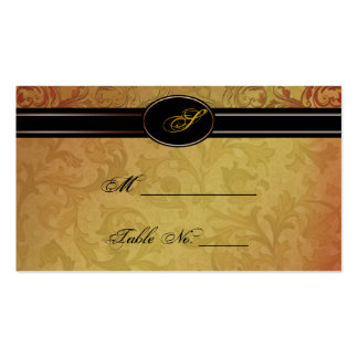 Fall Regency Wedding Place Cards Business Card
