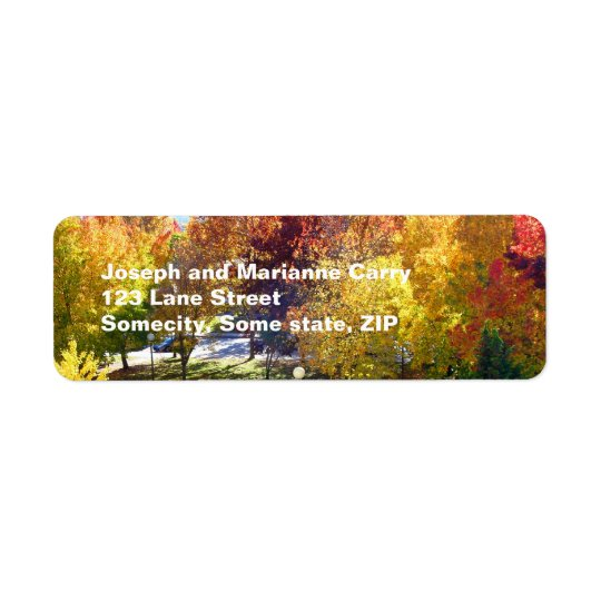 Fall  return adress Avery Label Return Address Label
