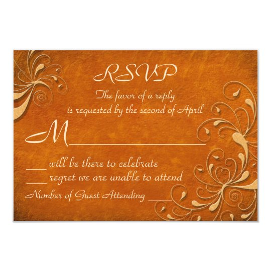 Fall Rhapsody RSVP Cards