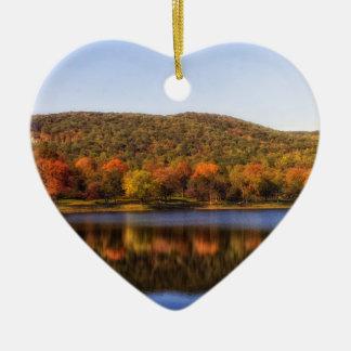 """fall river lake"" ceramic heart decoration"