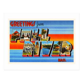 Fall River Massachusetts MA Old Travel Souvenir Postcard