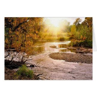Fall River Morning Greeting Card