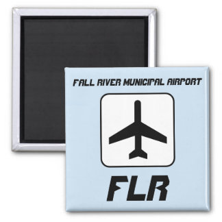 Fall River Municipal Airport Square Magnet