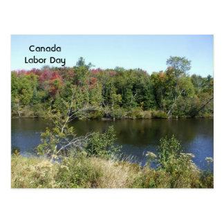 Fall River Scene Postcard