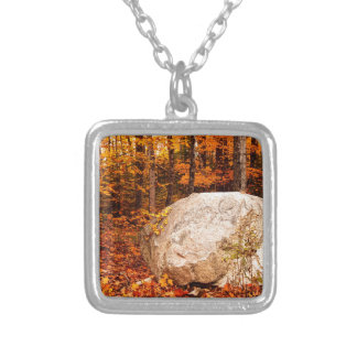 FALL ROCKS! SILVER PLATED NECKLACE