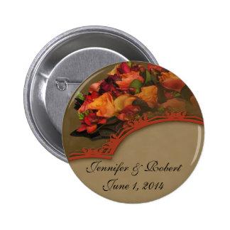 Fall Rose Bouquet Pin