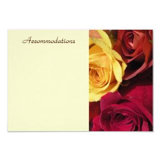 Fall Roses Enclosure Card 9 Cm X 13 Cm Invitation Card