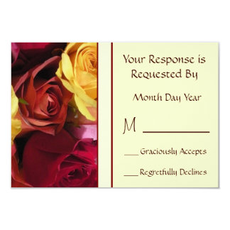 Fall Roses Floral RSVP Card