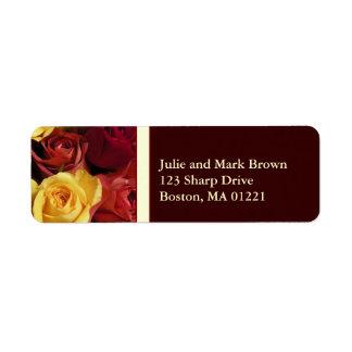Fall Roses Return Address Label