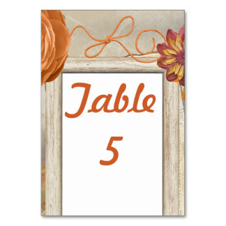 Fall rustic Design Card
