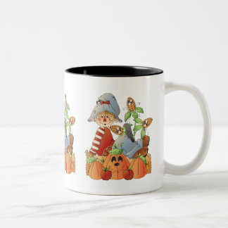 Fall scarecrow seasonal coffee mug