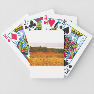 Fall Scene at Great Meadows Bicycle Playing Cards