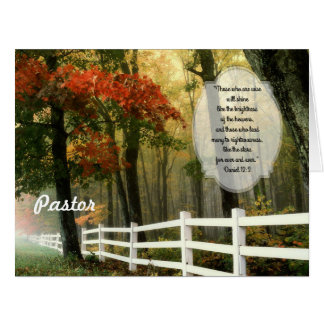 Fall Scene Custom Pastor Appreciation From All Big Greeting Card