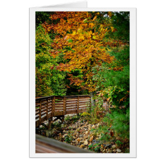 Fall Scene with Bridge Card