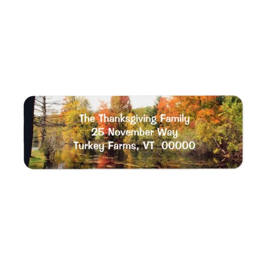 Fall Scenery Return Address Stickers Return Address Label