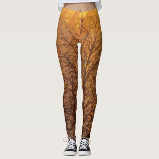 Fall Season (Autumn) Trees Leggings