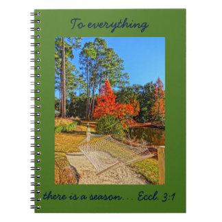 Fall Season Inspirational Scripture Bible Verse Spiral Note Book