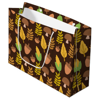 Fall Seasonal acorn pattern party bag
