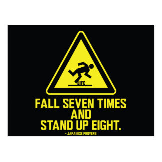 Fall seven times and stand up eight - Postcard