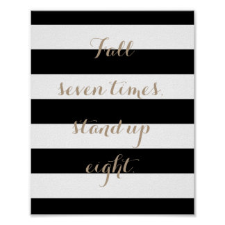 Fall Seven Times, Stand Up Eight Poster