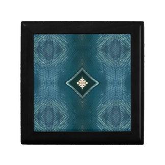 Fall Shade Of Blue With Cream Diamond Shape Gift Box