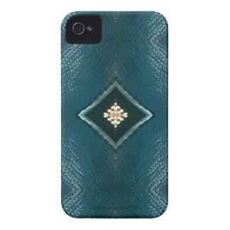 Fall Shade Of Blue With Cream Diamond Shape iPhone 4 Case-Mate Case