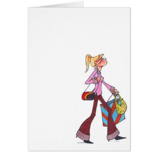 fall shopping women notecard